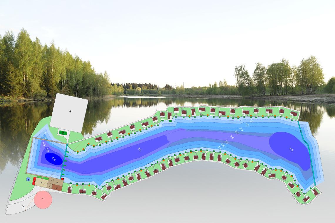 План территории рыболовного клуба Марлин.